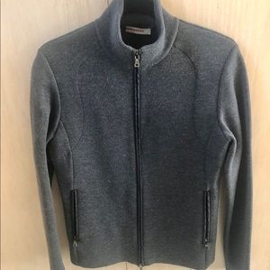 Prada zip up wool sweater